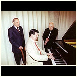 G.Aliev, M.Rostropovich, at the piano - M.Magomaev