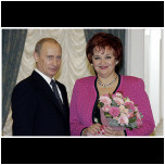 An Honorable Award. V.Putin and T.Sinyavskaya in the Kremlin