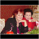 Tamara Sinyavskaya and Galina Vishnevskaya. April 2006