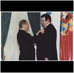 An Award of Honor. V.Putin and M.Magomaev