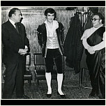 "After the performance of ""Barbiere di Siviglia"". G.Aliev, M.Magomaev – Figaro, R.Atakishiev - Almaviva"